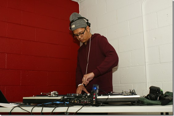 DJ Icewater at Molina Speaks bday party 2014